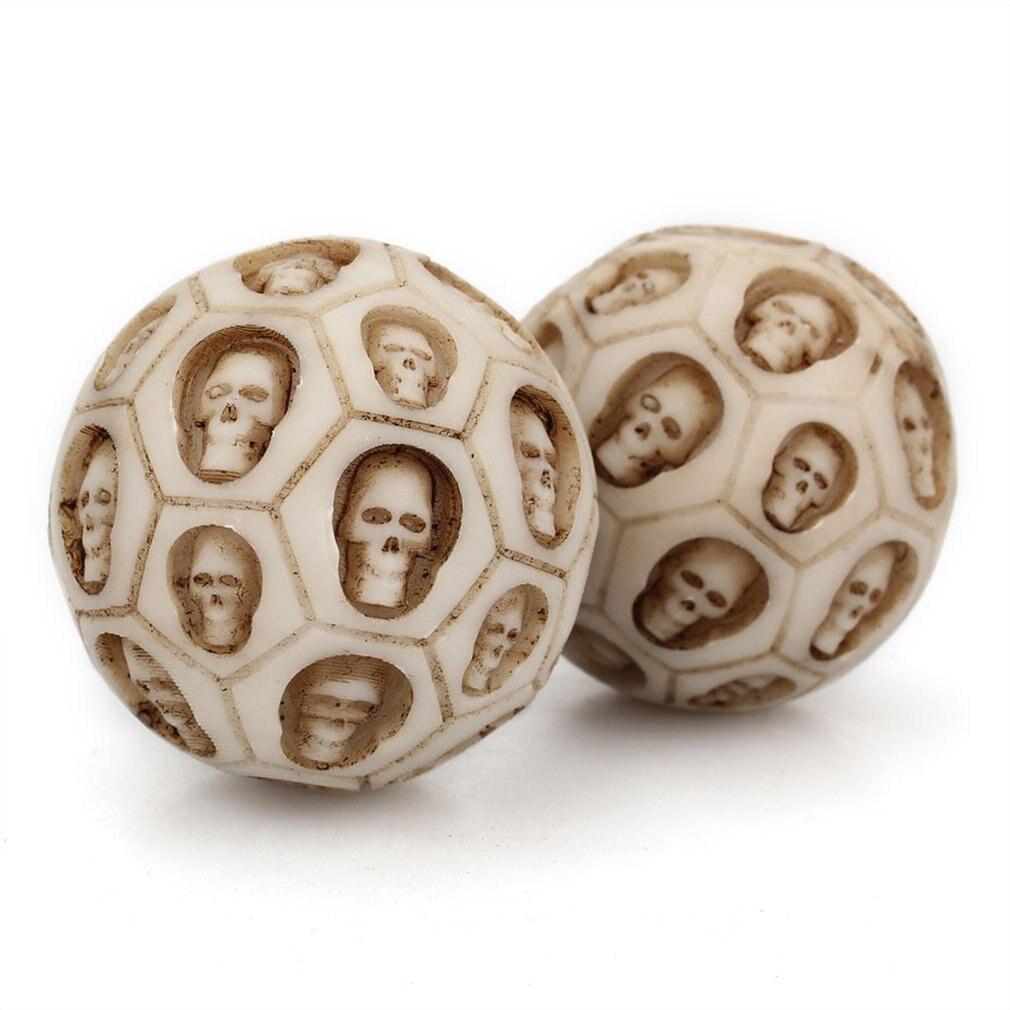 1 Pc Schädel Fitness Ball Harz Hand Drehen Gesundheit Ball Roll Dekompression Massage Ball Übung Spielzeug Anti Stress Relief Für Erwachsene