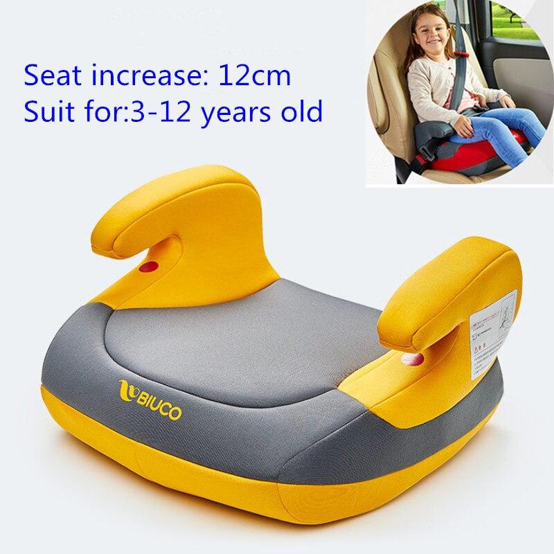 Rehausseur de siège de voiture sans dossier coussin d'augmentation universel sièges de sécurité de voiture pour enfants 12 CM costume pour 3-12 ans