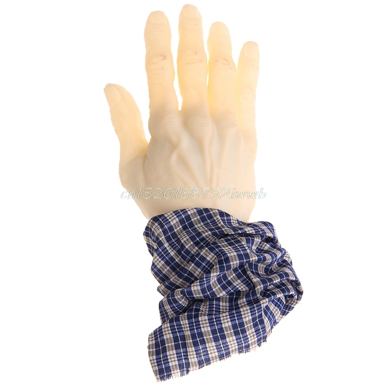 20cm Ghastly Trick Surprise Fake Arm Hand Severed Halloween Props Prank Toy #T026#