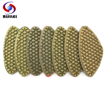 RIJILEI 6pieces/lot Triangular type Diamond Polishing Pad Shaped Marble Granite tool (WPD32)