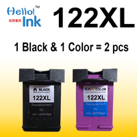 2pcs Ink Cartridge Compatible For HP 122 XL For HP Deskjet 1000 1050 2000 2050 2050s