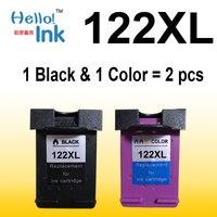 2pcs Ink Cartridge Compatible For HP 122 XL For HP Deskjet 1000 1050 2000 2050 2050s