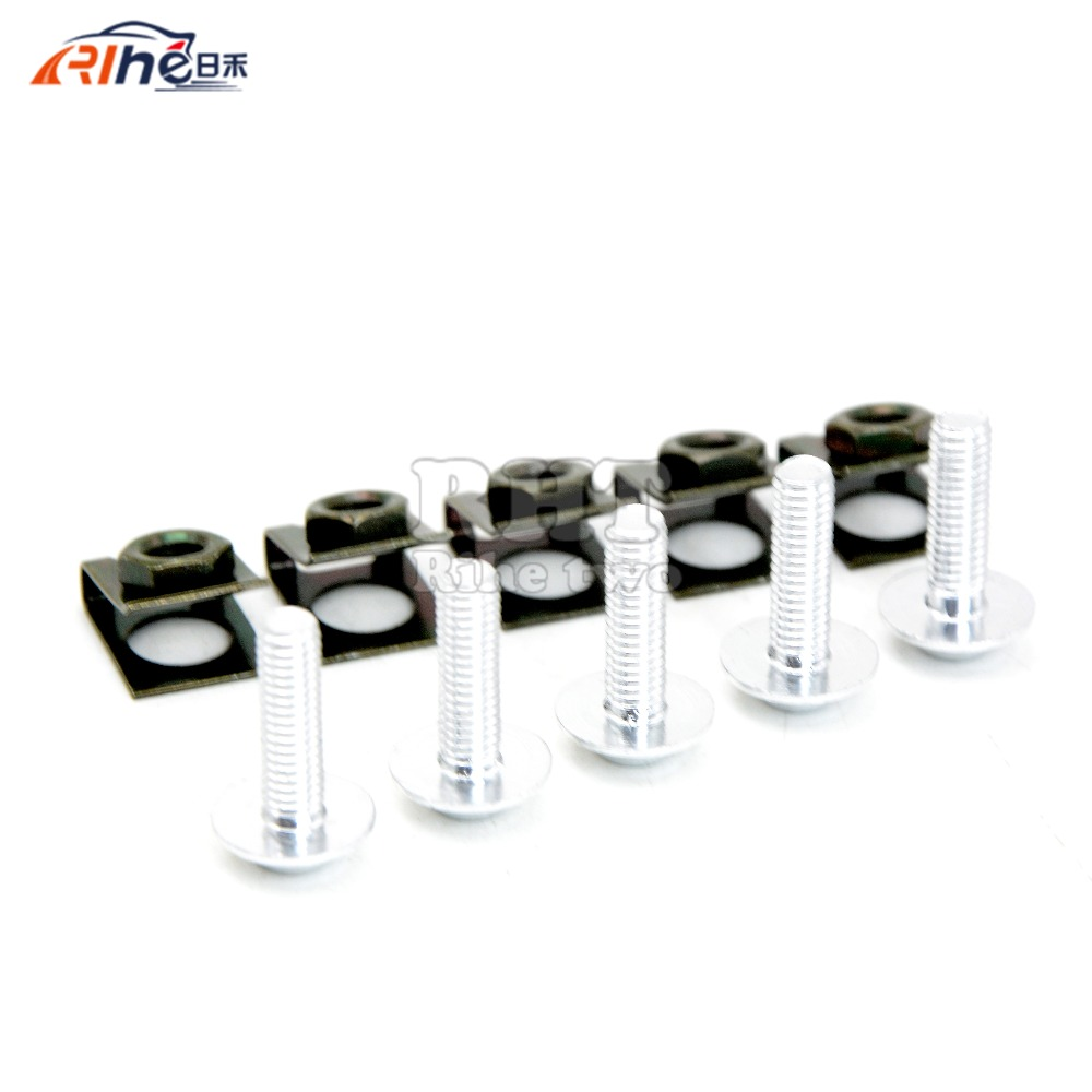 5 piezas 6 mm motocicleta accessrioes carenados tornillos para el - Accesorios y repuestos para motocicletas - foto 2