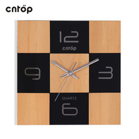 Modern Design High Grade Wood Wall Clock Mute Simple Home Decoration Square Black Brown Environmentally Friendly