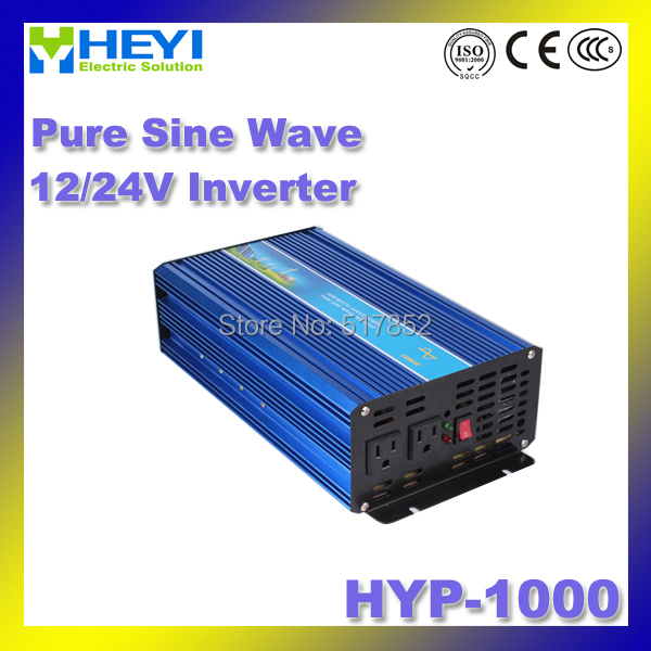 Pure Sine Wave Inverter HYP-1000 Input: 12/24V Micro inverter 50/60Hz high efficiency Power Inverter Soft start 48v 110v hyp 6000 50 60hz dc to ac power inverter soft start power inverter low work noise sine wave inverter