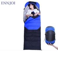 Saco de Dormir Preguiçoso ENNJOI Pato Saco Para Baixo Saco de Dormir Envelope Acampamento Ao Ar Livre Portátil Caminhadas Viagem de Lã Cama Dormindo
