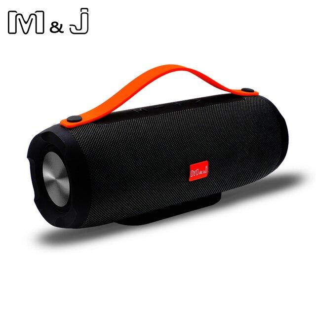 M & J E13 ลำโพง Bluetooth ลำโพงไร้สายสเตอริโอแบบพกพาเสียงเบส 10 W ระบบ MP3 เสียงเพลง AUX สำหรับ Android iphone Pc