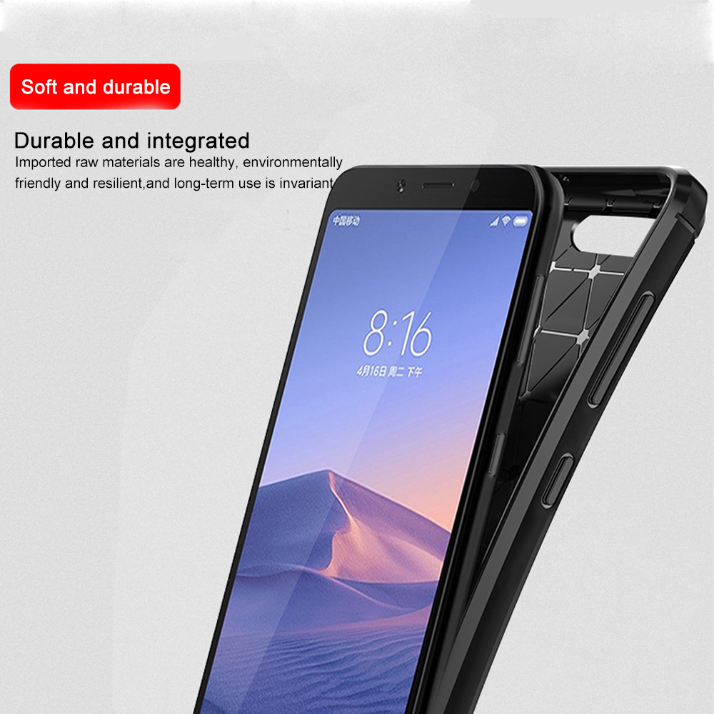 Carbon Fiber Case On For Xiaomi Redmi Note Phone Case 1