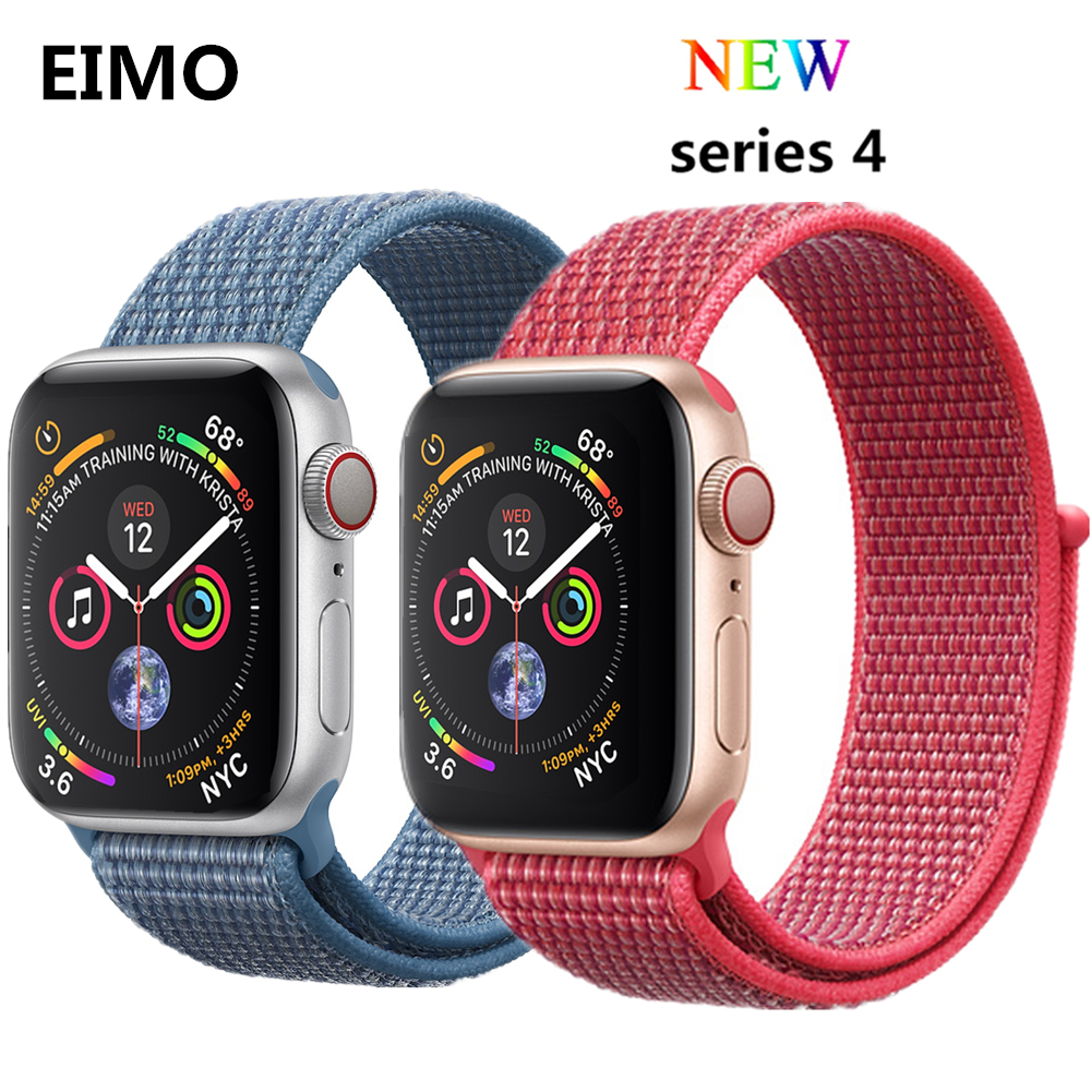 Woven nylon For Apple watch band 4 44mm 40mm Sport Loop Watchband Iwatch series 4 3 2 1 42mm 38mm bracelet breathable wrist belt mu sen woven nylon band strap for apple watch band 42mm 38 mm sport fabric nylon bracelet watchband for iwatch 3 2 1 black