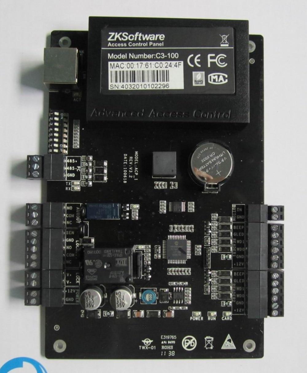 ZK C3-100 TCP/IP Contrôle D'accès Intelligent intégré à Une porte Bidirectionnelle Porte Panneau De Contrôle D'accès avec Logiciel Libre