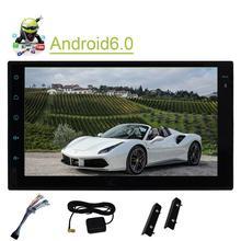 Стерео android6.0 Дин GPS навигации 3D GPS автомобиля Мониторы руль 1080 P воспроизведения видео Поддержка Зеркало Ссылка /SD/USB/WiFi