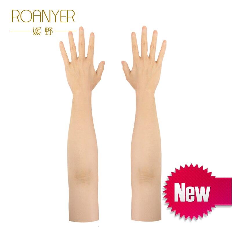 Силиконовые Мужские перчатки высокого уровня реалистичные силиконовые перчатки женские искусственная кожа реалистичные поддельные руки ...