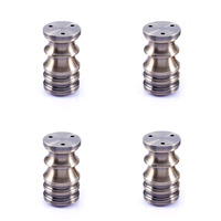 80mm Aluminum Alloy Furniture Legs Table Bed Sofa Cabinet Feets Adjustable 6mm Bronze Tone Pack of 4