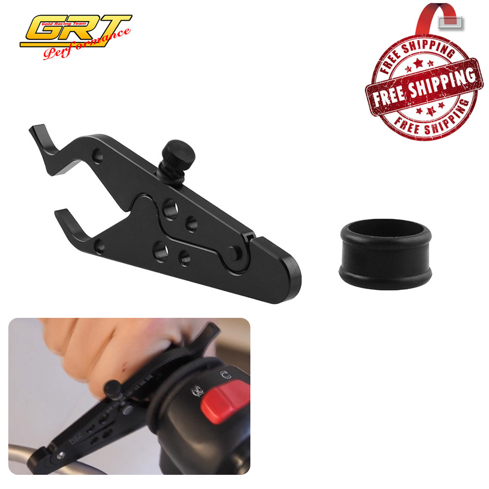 Universal Motorcycle Adventure Cruise Throttle Clamp With Rubber Ring Handlebar Black Scooter Cruise Control Assist MB-OT312
