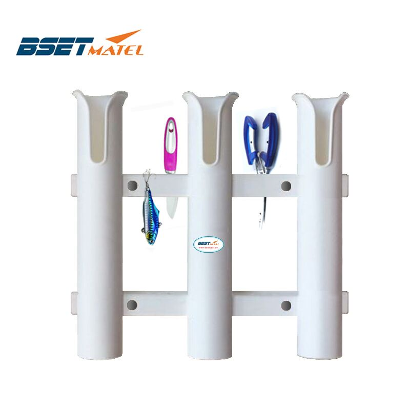BEST MATEL 3 Tubes Link White plastic fishing rod holder fishing rod rack socket for boat marine fishing box kayak boat yacht magideal marine canoe kayak boat fishing pp 3 pole rod holder tube mount bracket rack pliers storage for water rowing boat acce