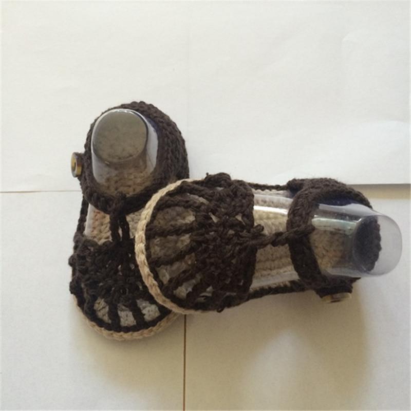 QYFLYXUE, Crochet Baby Flip Flop., Baby Summer., Crochet Baby mit - Babyschuhe - Foto 2