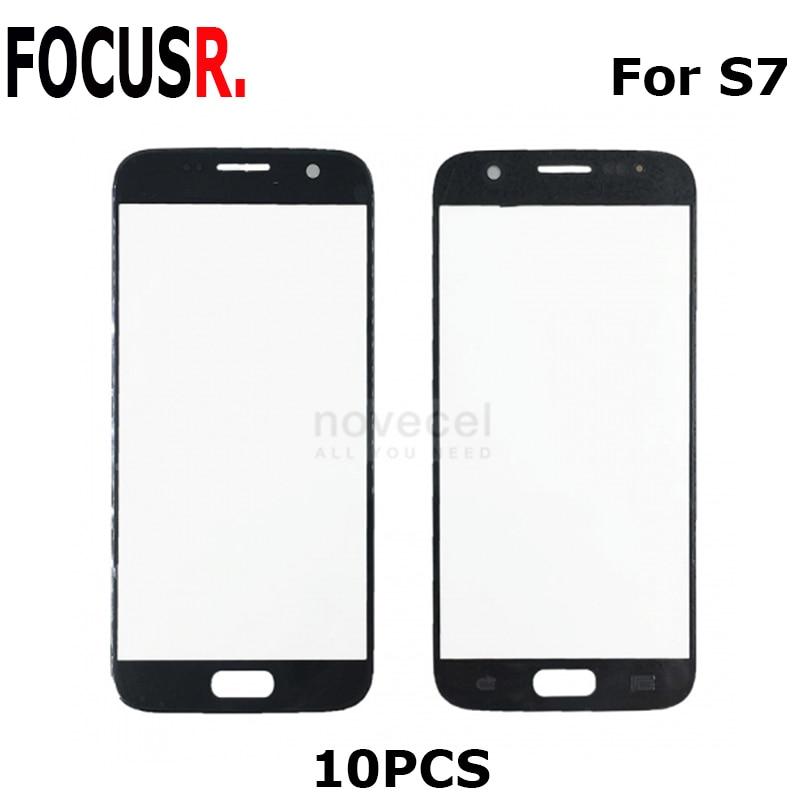 Remplacement de lentille en verre d'écran avant de Novecel 10 pcs ORI pour les pièces de réparation de Samsung Galaxy S7 G930 G930F