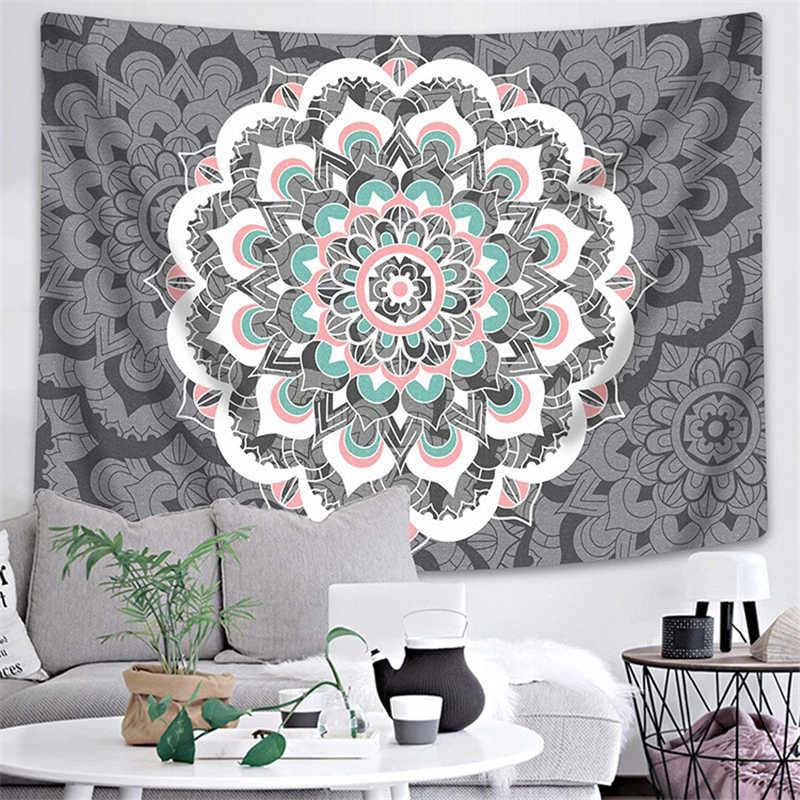 อินเดีย Mandala Tapestry Wall แขวน Boho Decor ผนังผ้า Tapestries Psychedelic Hippie Night Moon Tapestry Mandala พรมพรม