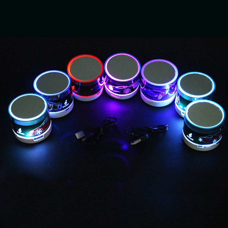 Mini LED Bluetooth Speaker For phone Xiomi Wireless Speaker Computer Music MP3 Player Soundbar Subwoofer Box Bluetooth Receiver