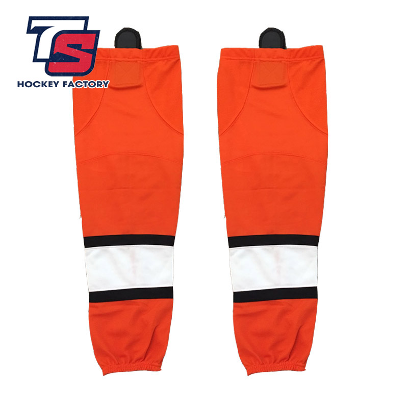 JETS Free Shipping 100% Polyester Breathable Ice Hockey Sport Socks Cheap Shin Guards W051 Men Women
