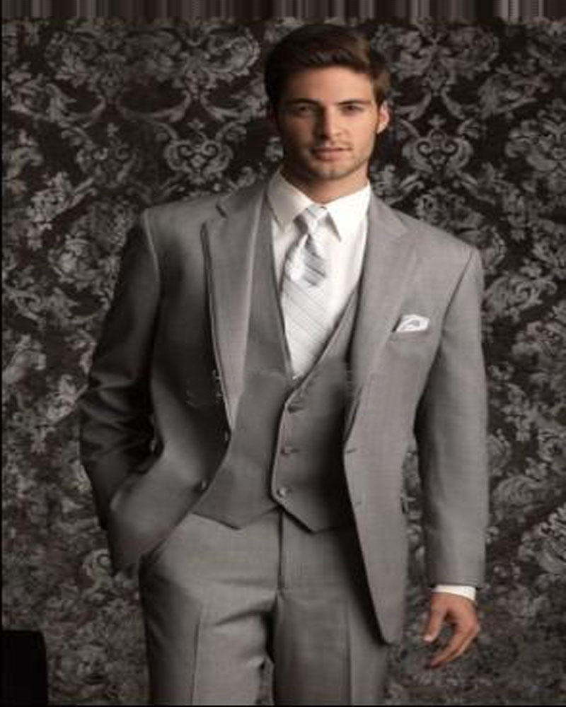 Custom Made Size And Color Groom Tuxedos Best Man Notch