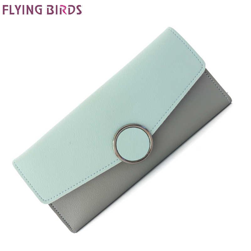 518741264917 Летящие птицы Женские Кошельки женские портмоне доллар цена длинные бумажник  телефон сумки для женщин кошелек держатель