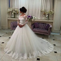 Wedding Dress 2017 New Three Quarter Beaded Lace Vestidos De Noivas Para Casamento Robe De Mariage Bride Dresses