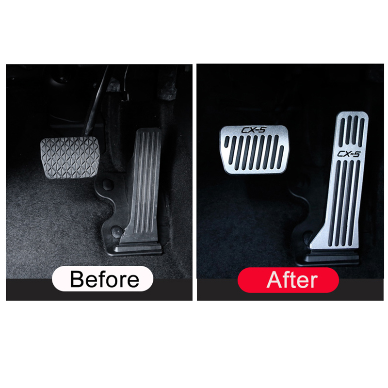 Image 2 - Car Accelerator Gas Pedal Brake Pedal Footrest Pedal Plate Cover AT For Mazda CX5 CX 5 CX 5 2013 2014 2015 2016 2017 2018 2019-in Pedals from Automobiles & Motorcycles