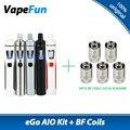 Original Joyetech EGo AIO Kit 0.6ohm 1500mAh Battery Capacity All-in-One  E-Cigarette Vaporizer Vaping PEN Ego Aio Quick Kit