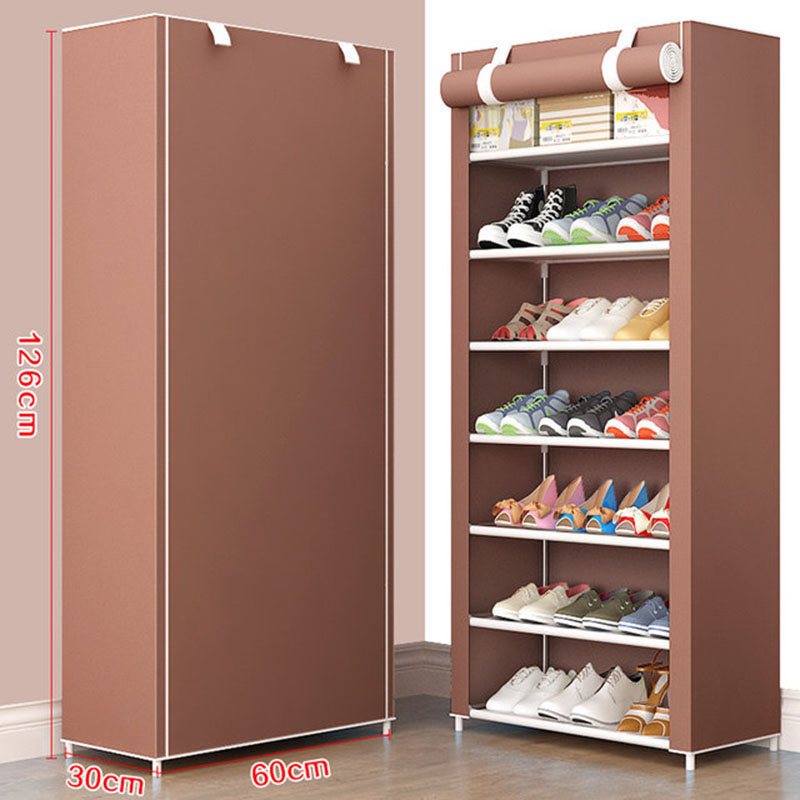 Minimalist Multi Layer Shoe Cabinet DIY Home Shoe Rack Shoe Stand Holder With Waterproof Non-woven Cloth Dustproof Shoe Rack