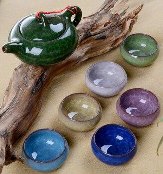 Promoción envío gratis elegantes tazas de cerámica china juego de té de Kung Fu auténtico juego de té de Chinaware tetera taza de té