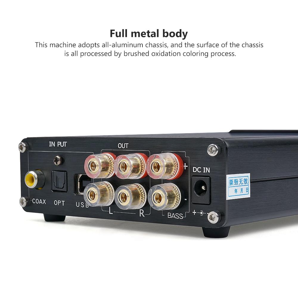 AIYIMA 2 1 Digital Power Class D Amplifiers Audio Board 25Wx2+50W USB  Optical Coaxial Input Amplificador STA326 PCM2706 AK4113