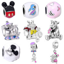 581bce1df free shipping 1pc silver mickey teapot mouse diy beads&jewelry marking Fit Pandora  Charm Bracelet EL018(