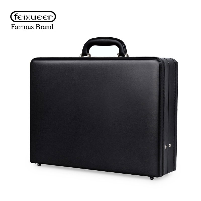 Aliexpress.com : Buy feixueer Business Mens Leather Briefcase ...