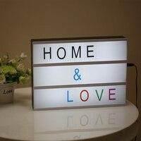 A4 252 x Letter Symbols LED Letter Light Box LED Night Lamp Cinematic Box Supply Cinema Light for Wedding Decorative Child Gift