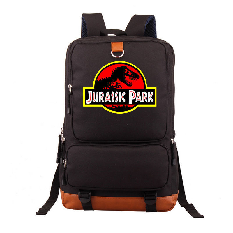 Jurassic World Jurassic Park Backpack Shoulder Laptop Travel Bag Rucksack Messenger Shoulder Bag Characters School Laptop Bag