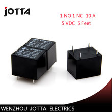 Free shipping 5pcs/lot  JQC-3FF-S-Z  T73 5VDC 5 feet 10A /5 Pins RELAY  Coil Power Relay  1NO1NC form C electromagnetic relay 10 sets free shipping ly4nj hh64p dc24v 14pin 10a power relay coil 4pdt with ptf14a socket base
