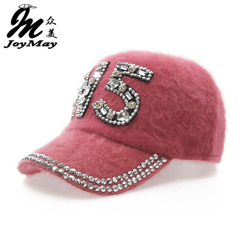Free shipping fashion winter hat candy solid color rabbit fur baseball cap N5 Women's Autumn and Winter cap W011 fashion solid color baseball cap for men and women