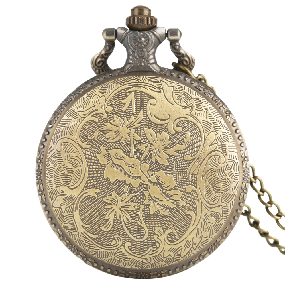 Fob Pocket Watches Chain Vintage Hollow Naruto Theme Design - Қалта сағаты - фото 5