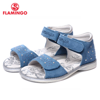 FLAMINGO Famous Brand 2017 New Arrival Spring Summer Kids Fashion High Quality Sandals For Girls QS5726