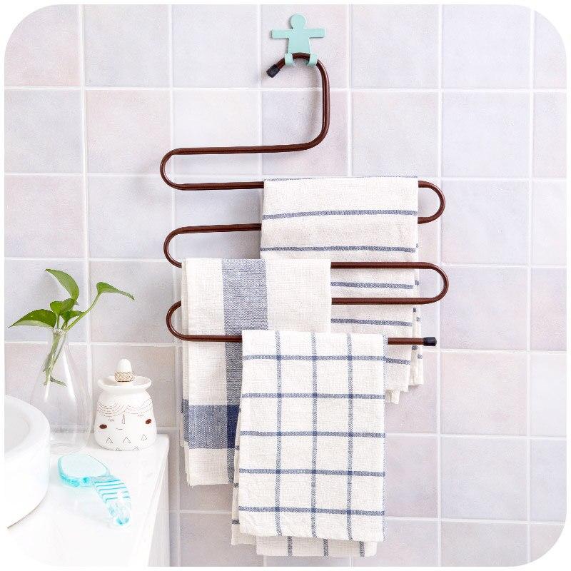 Multi-função S-tipo gravata cachecol cabide armário cabide de toalha acessórios do banheiro prateleira
