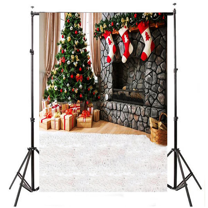 Vinyl Christmas Photography Backdrop Photo Background Christmas tree, Christmas stock christmas background pictures vinyl tree wreath gift window child photocall fairy tale wonderland camera photo studio backdrop