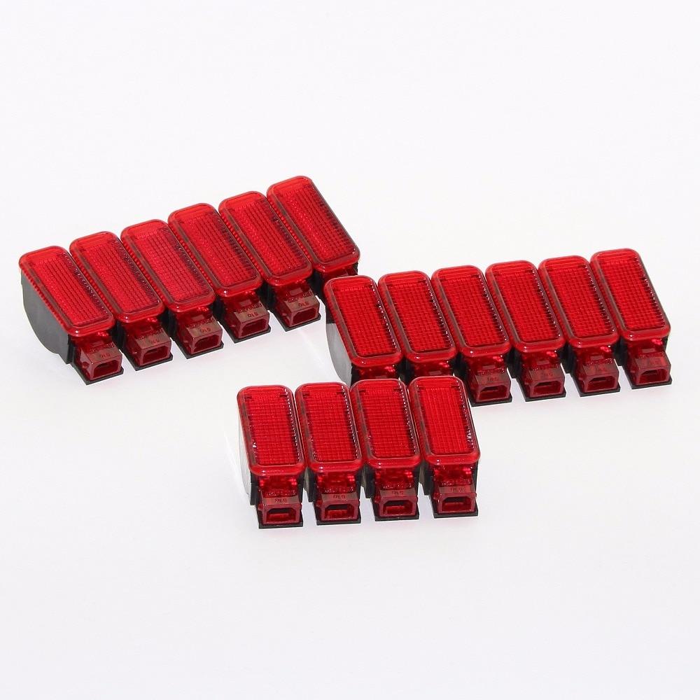16Pcs Car Door Panel Interior Red Warning Light New For A7 A8 Q3 Q5 TT A3 S3 A6 S6 A4 S4 RS3 RS4 RS7 8KD947411 8KD947411