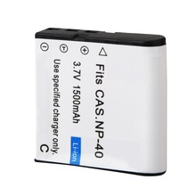 1PC 3.7V 1500mAh NP-40 Battery Pack for Casio EX-Z30/Z40/Z50/Z55/Z57/Z750 EX-P505/P600/P700 PM200 Battery
