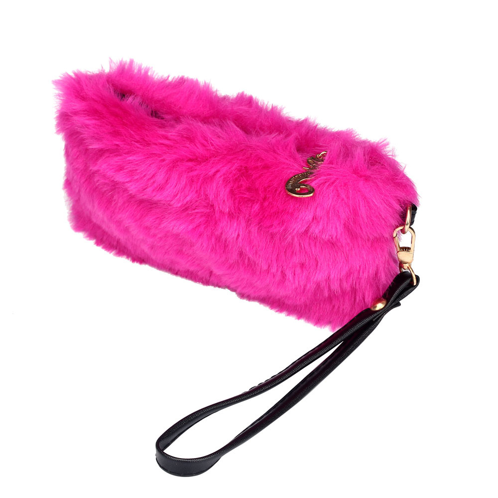 Hot Sale 2016 New Fashion Women Girls Winter Warm Wallet High Quality Tote Bag Card Pack Small Hairy Bag Handbag  hot sale 2016 new fashion women girls winter warm wallet high quality tote bag card pack small hairy bag handbag