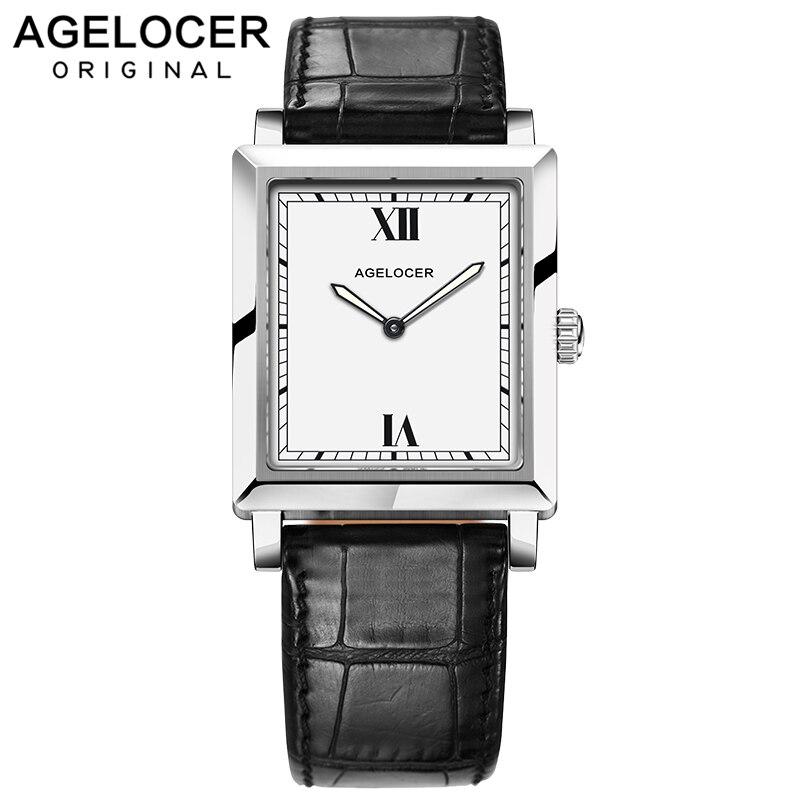 2018 Швейцарский оригинальный кварцевые женские часы Agelcoer брендовые часы женские часы браслет сапфировые часы женские с кожаной подарочной