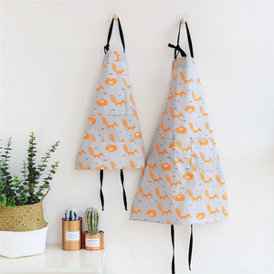 1 pcs Cactus Fox Cat Pattern Apron Woman Adult Children Bibs Home Cooking Baking Shop Cleaning Apron Kitchen Accessory 46189(China)