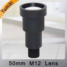 """Yumiki lente CCTV de 50mm, M12 x 0,5, 7 grados, 1/3 """", F1.2, tablero de MTV, para cámara de seguridad CCTV"""