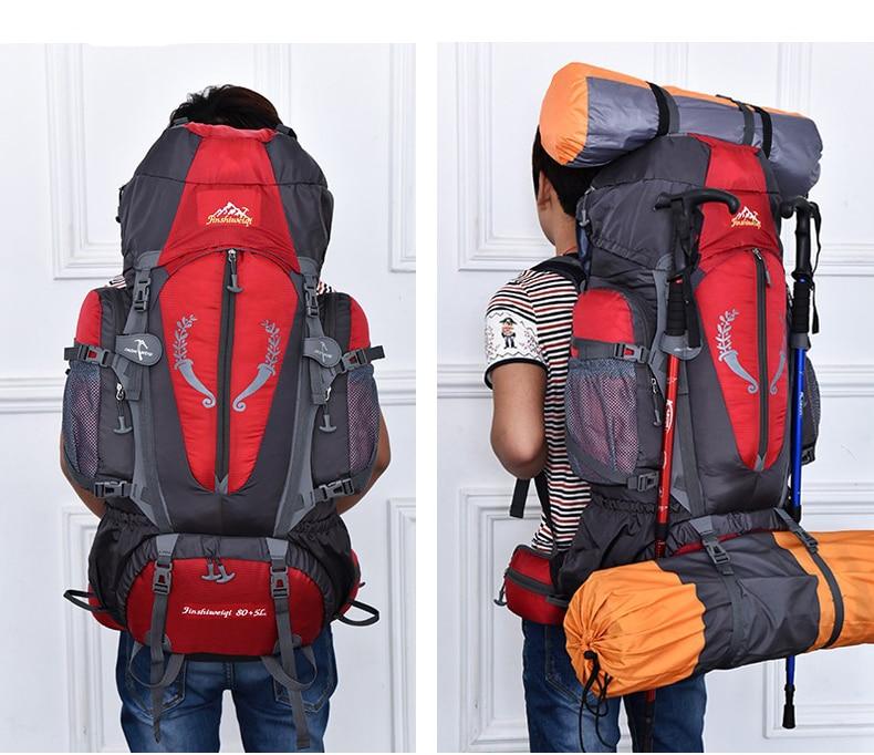 grande capacidade mochilas acampamento sacos esportivos