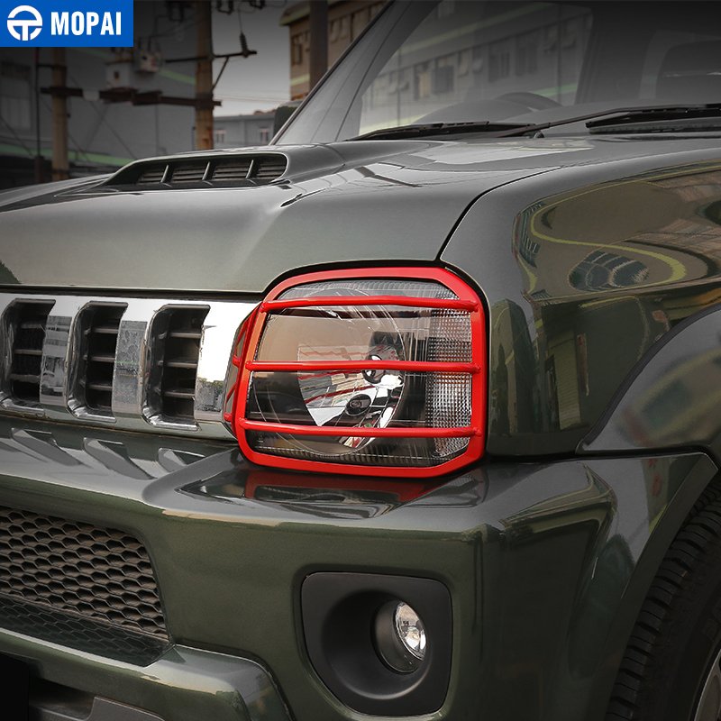 Image 3 - MOPAI Car Lamp Hoods for Suzuki jimny 2007 Up Metal Car Headlight Head Light Lamp Cover Stickers for Suzuki jimny Accessories-in Lamp Hoods from Automobiles & Motorcycles